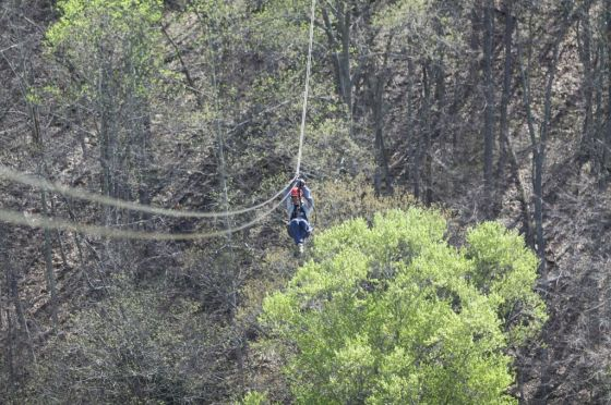 Me ziplining at Navitat in Asheville