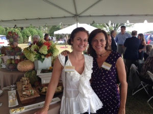 My friend and guest, Nina and me at the VIRGINIA LIVING tent at Foxfield